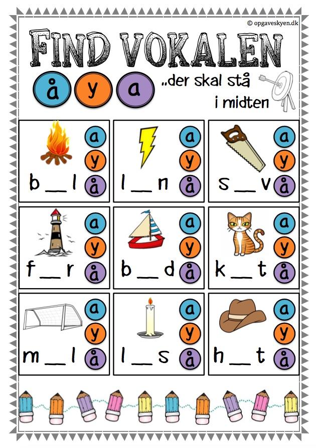 dansk grammatik øvelser print